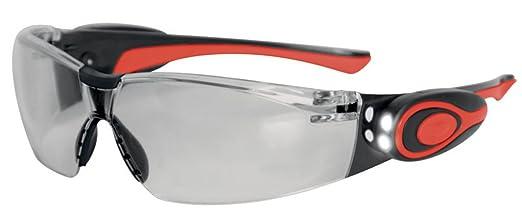 JSP ASA106-121-300 Stealth 8000 - Gafas de trabajo antivaho con linterna led