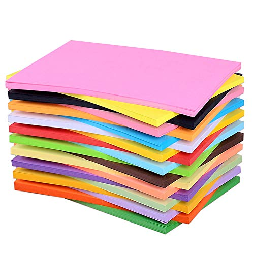 (100 Pcs A4 Colored Copy Paper, Diy Folding Art Tissue For Crepe Paper 20 Different Colors For Office School Home)