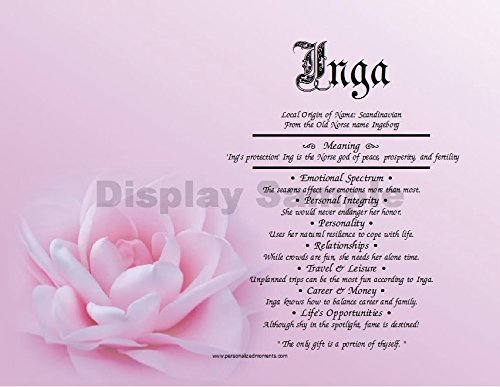 Amazon pink rose personalized any first name meaning keepsake pink rose personalized any first name meaning keepsake print 85quot x 11quot mightylinksfo