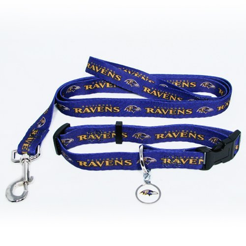 Hunter Baltimore Ravens Pet Collar, Lead and ID Tag Combo Set, X-Small