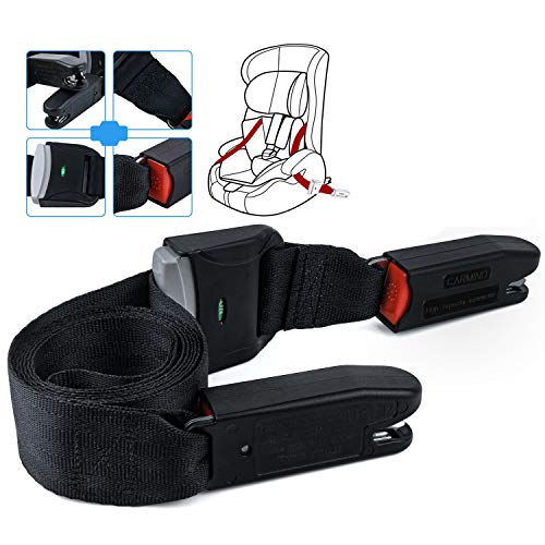 SKCAZA ISOFIX Belt Latch Connector Child Car Safety Seat Strap General Belt New Upgrade for Fixed Child Car Seats