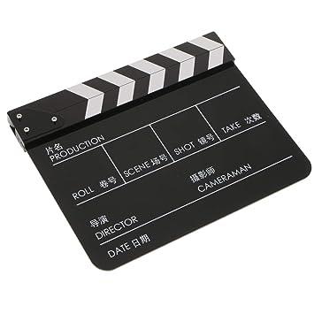 perfk Acrílico Clapperboard TV Película Película Corte de ...