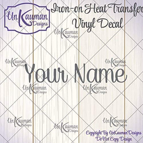 bf12ef103 Amazon.com: Personalized Name Iron On Vinyl Decal: Handmade