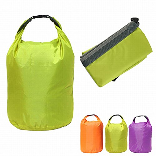 Honor2008(TM) Newest Hot Sale Portable 20L Waterproof Bag Storage Dry Bag for Canoe Kayak Rafting Sports Outdoor Camping Travel Kit (GN)