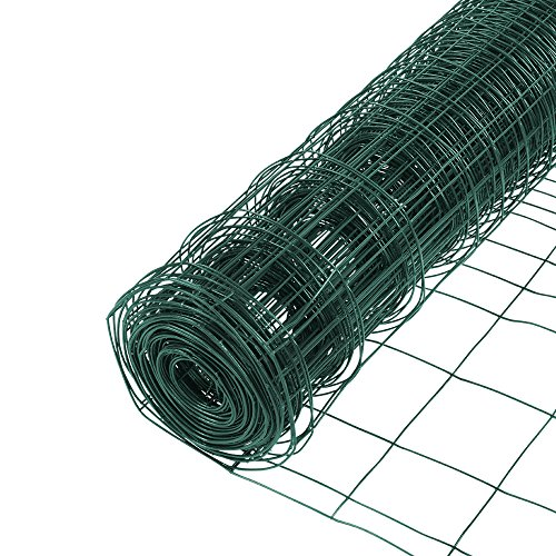yardgard-308350b-2-inch-by-3-inch-mesh-2-ft-by-25-ft-16-gauge-junior-roll-of-pvc-coated-welded-wire-fencedark-green