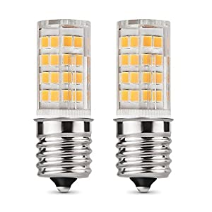 E17 LED Bulb Microwave Oven Light 4 Watt Warm White 3000K dimmable 52x2835SMD AC110-130V (Pack of 2)