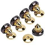 4 PCS Golden Speaker Spikes Subwoofer CD Audio