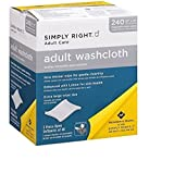 3 X Simply Right Adult Washcloths - 240 ct.