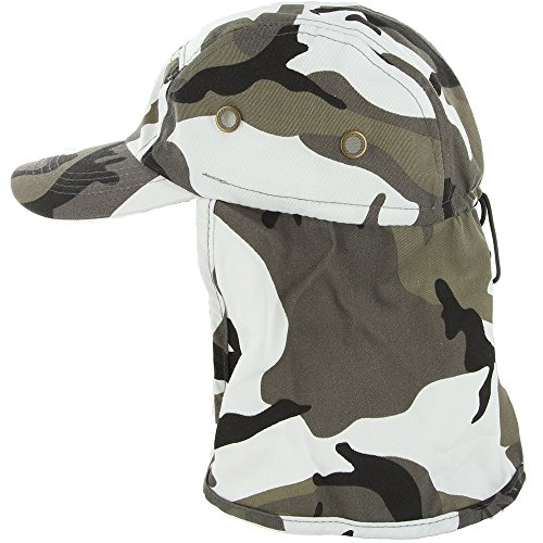 DealStock Fishing Cap with Ear and Neck Flap Cover - Outdoor Sun Protection ,C Camo ,Adjustable