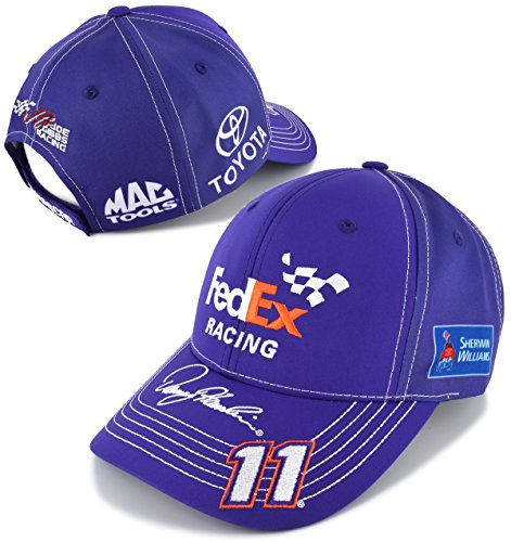 NASCAR Adult Driver/Sponsor Uniform Adjustable Hat/Cap-Denny Hamlin #11-FedEx