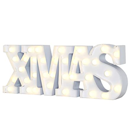 Ginger Ray Battery Operated Light Up Christmas Xmas Decoration Sign Battery  Operated Lights - Ginger Ray Battery Operated Light Up Christmas Xmas Decoration Sign