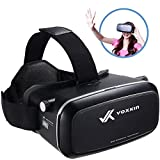 Virtual Reality Headset 3D VR Glasses by Voxkin - High Definition Optical Lens, Fully Adjustable Strap, Focal and Object Distance - Perfect VR Headset for iPhone, Samsung and any Phones 3.5' to 6'