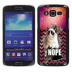 Dragon Case - FOR Samsung Galaxy Grand 2 - Take away love - Caja protectora de pl??stico duro de la cubierta Dise?¡Ào Slim Fit