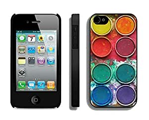 BINGO Brand New Watercolor Sets Witeh Brushes 13 iPhone 4 4S Case Black Cover