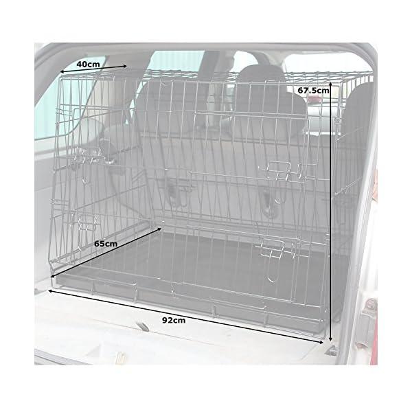 Hardcastle Folding Metal Car Boot Pet Dog Cage 4