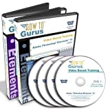 Adobe Photoshop Elements 10 Tutorial and Adobe Premiere Elements 10 Training Course 4 DVDs over 30 hours in 427 video lessons