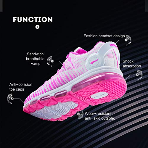 Cushion ONEMIX Men Running Shoes Athletic Casual Air Pink Women Sneakers for Ux5qFA6