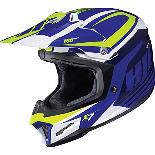 Mc2 Blue Motorcycle Helmet (HJC 0819-2902-56 CL-Y Flame Face Youth Helmet, Distinct Name: MC-2, Gender: Boys, Helmet Category: Street, Helmet Type: Full-face Helmets, Primary Color: Blue, Size: Lg, Size Segment: Youth)