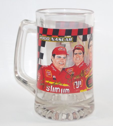 NASCAR 2000 BUSCH SERIES SLIM JIM RACING TEAM #44 20oz Beer Mug Set of 4