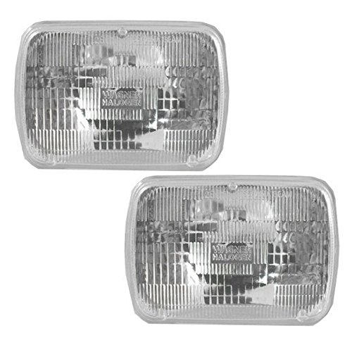 Rectangle Sealed Beam Headlamps Headlights Pair Set of 2 for Chevy Pickup Truck -