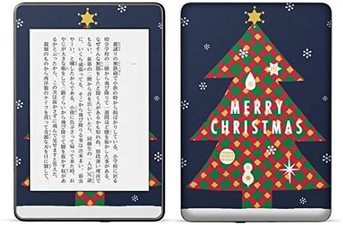 igsticker kindle paperwhite 第4世代 専用スキンシール キンドル ペーパーホワイト タブレット 電子書籍 裏表2枚セット カバー 保護 フィルム ステッカー 015811 クリスマスツリー 冬 木