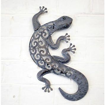 Decorative Metal Lizard Garden Wall Art For Garden & Home In A ...