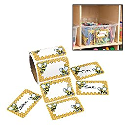 Bumblebee Name Tags/labels (100 Pack) 3 1/2\