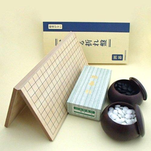 囲碁セット 棋になる折碁盤とP碁笥銘木大と蛤碁石徳用雪32号のセットの商品画像