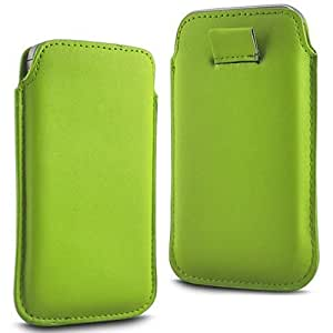 Online-Gadgets UK - Huawei Ascend Y330 Prima Soft PU Caso ficha de extracción Funda de cuero Flip - Verde