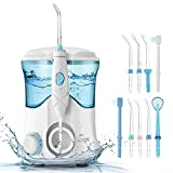Water Flosser, Cozzine Oral Irrigator Dental Care Flossers for Teeth with 600ml Reservoir Large Capacity Electric Leak-Proof & 9 Multifunctional Tips Countertop, 10 Pressure Settings, Best Gift for Family Home/Travel