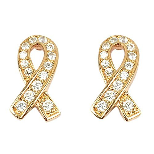 So Chic Jewels - 18K Gold Plated Clear Cubic Zirconia Knot Stud Earrings by So Chic Jewels