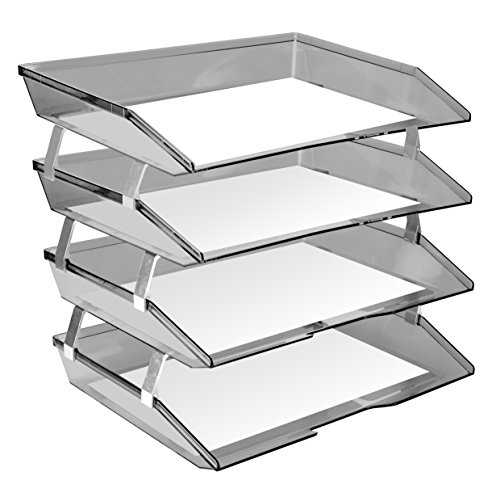 Acrimet Facility Letter Tray 4 Tiers (Smoke Color) by Acrimet (Image #2)