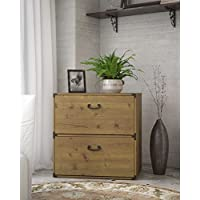 Rustic, Two Generously Sized Drawers Furniture Ironworks, Country Style Lateral Filing Cabinet