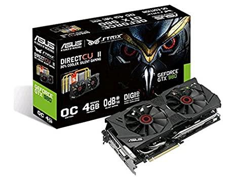 ASUS STRIX-GTX980-DC2OC-4GD5 GeForce GTX 980 4GB GDDR5 ...