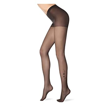 7c56b54373eae Conte Women's Stylish Rhinestone Tan Pantyhose Tights with Stars Pattern at  Amazon Women's Clothing store: