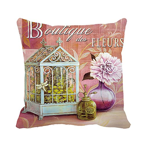 Poppylife Peony Boutique Pillow Covers Case for Sofa Cushion Home Decro Christmas Gift for Girls 18