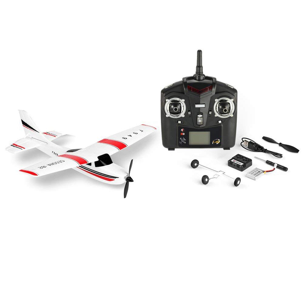 Wltoys F949 3Ch 2,4 GHz Rc Flugzeug Festflügel Rtf Cessna-182 Flugzeug Drohne Spielzeug-Weiß