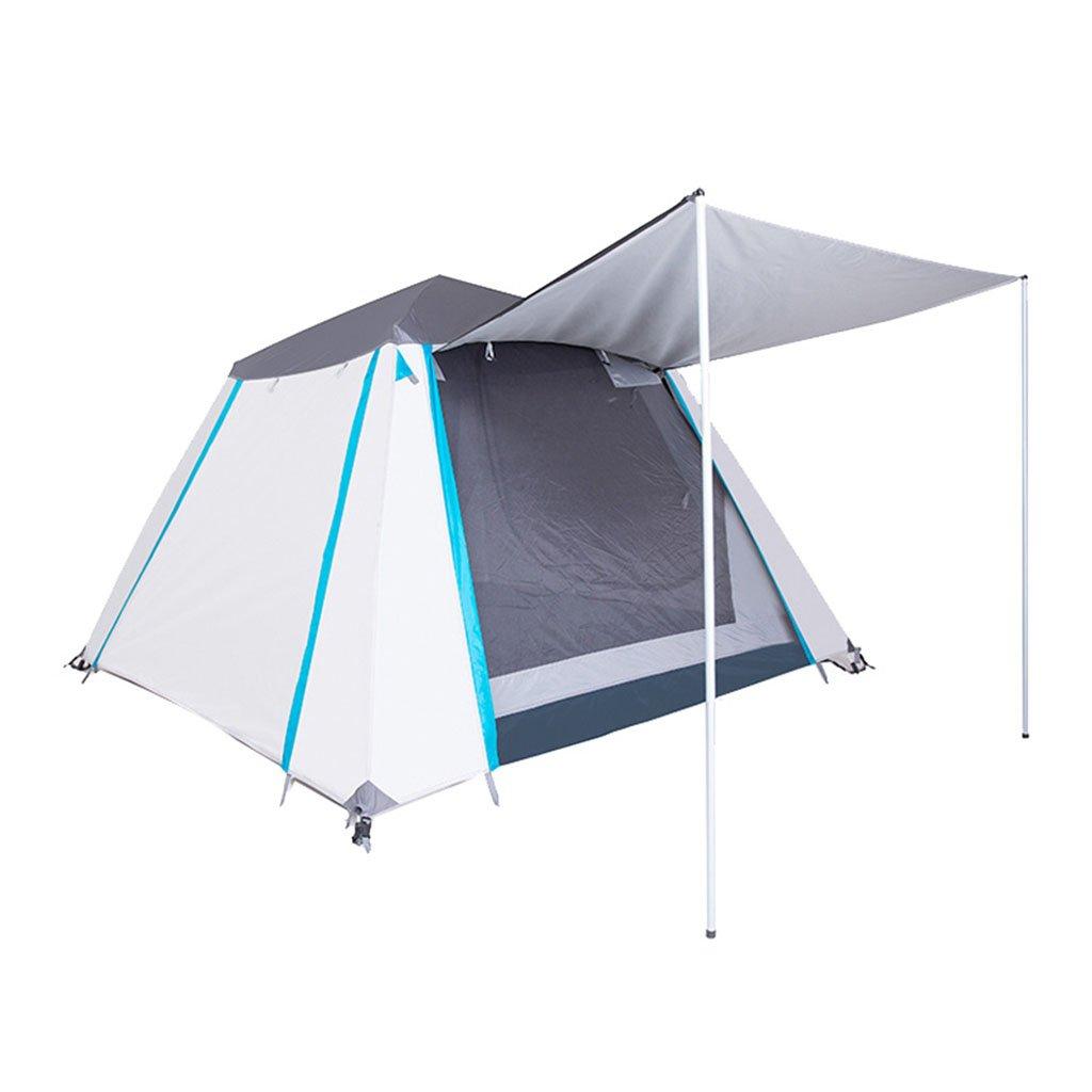TENT-L ZP Zelt, automatische im Freienfamilie, die kampierendes wasserdichtes Zelt kampiert huwaizhangpeng (Farbe : Weiß)