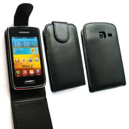 UPC 717851251108, Phones Palace Black Flip Leather Case For Samsung Wave Y S5380