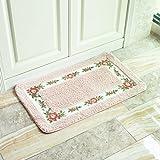 Simple And Creative Kitchen Bathroon Bedroom Anti-Slip Doormat pink