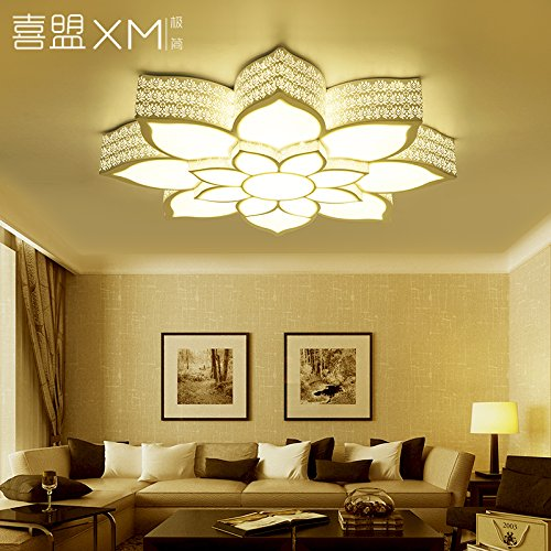 BGmdjcf Led Personality Floral Ceiling Lamp Warm Light Monochrome +Led ,60Cm- ()