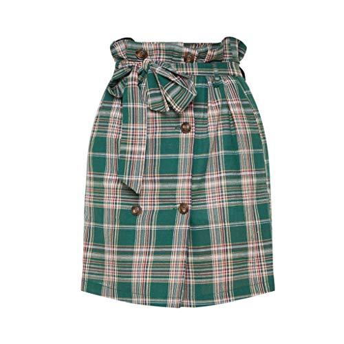 Sexy Womens Fashion Leisure Sport Mini Skirt Plaid Tie Slim Sexy Skirt by VEZAD (Image #4)
