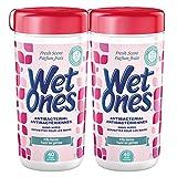 WET ONES Antibacterial Hand Wipes, Fresh Scent 40 Each (Pack of 2)