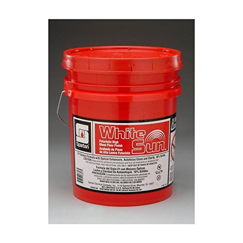 Floor Finish 5 Gallon Pail - Spartan White Sun Floor Finish, 5 gal pail