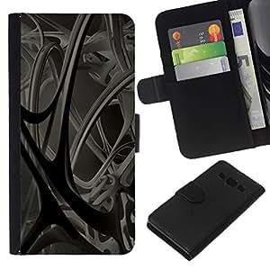 // PHONE CASE GIFT // Moda Estuche Funda de Cuero Billetera Tarjeta de crédito dinero bolsa Cubierta de proteccion Caso Samsung Galaxy A3 / Abstract 3D /