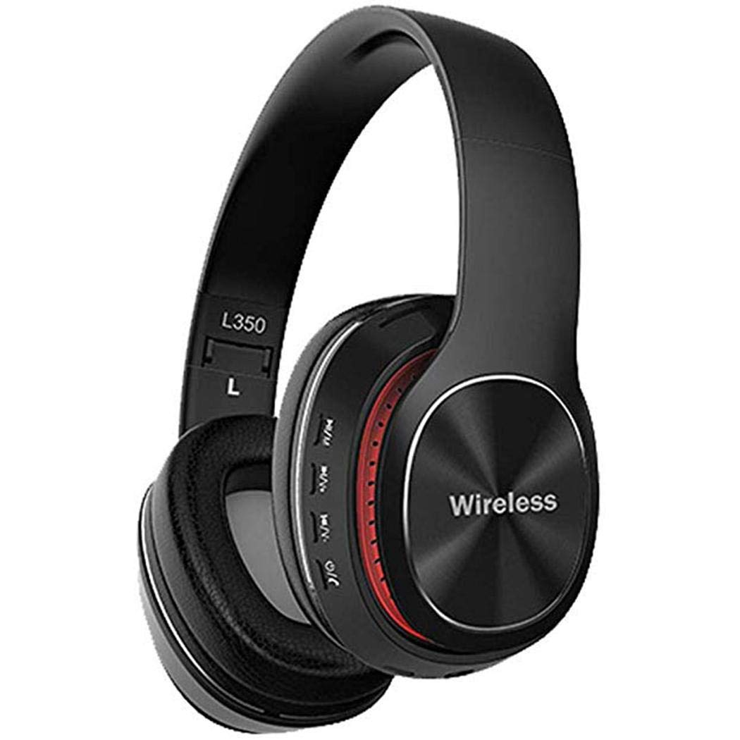 Halffle Bluetooth Headphones Bluetooth 5.0 Noise Cancelling Headphones Over Ear Foldable Stereo Wireless Headset with Micphone Bluetooth Earphones Support TF Card