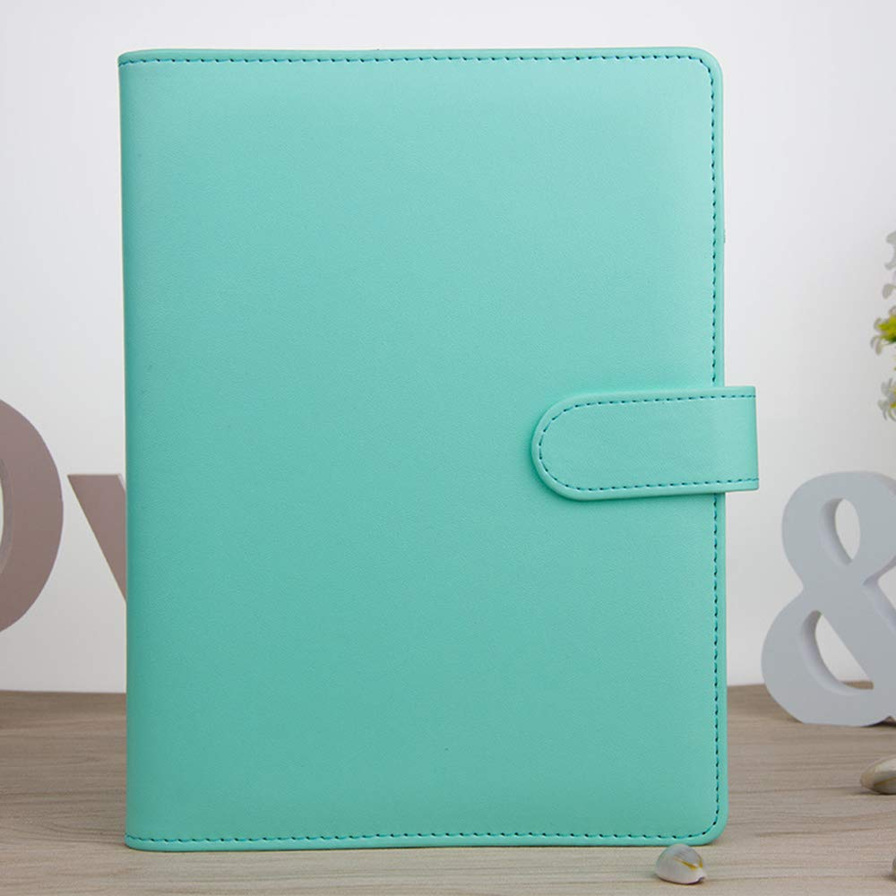 VANKER Creative Macaron Notebook Hoja Loose Encuadernado Diario Agenda planificador Protectora – Cuaderno de Notas A5 Verde