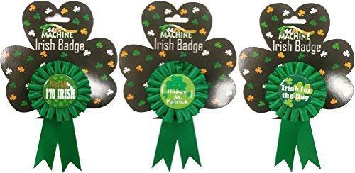 Fun Machine 1 X St Patricks Day Assorted Irish Rosette Badge Ribbon Fancy Dress -