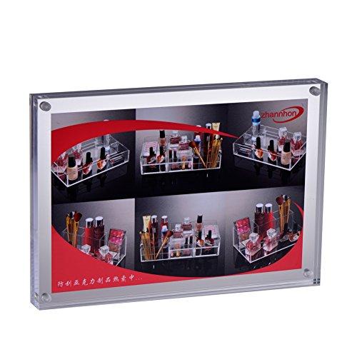 FOLOBE Magnetic Photo Acrylic Frame Double Sided Desktop Standing Home Decor Gifts 6x8 by FOLOBE