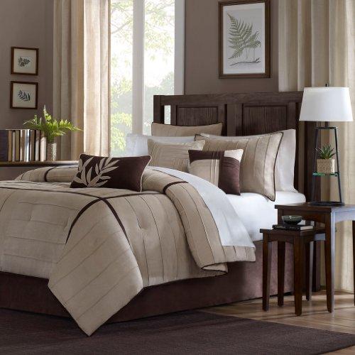 Madison Park Dune Comforter Set, Full, Beige